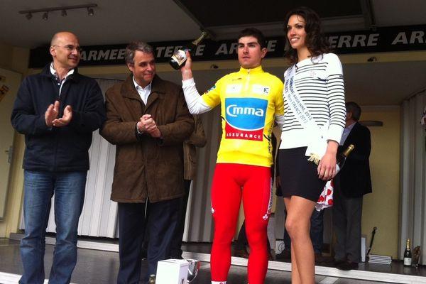 Pierre-Henri Lecuisinier (Vendée U) remporte le contre-la-montre en 29'45'' et s'empare du maillot jaune des Boucles de la Marne