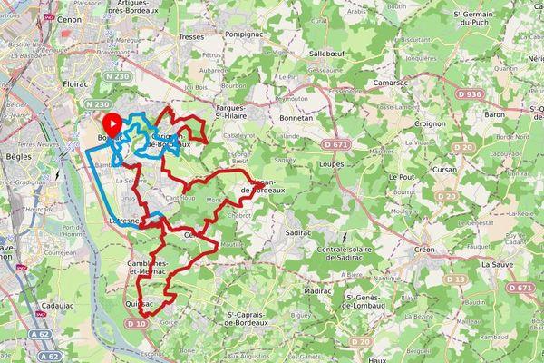 Bordeaux métropole a ouvert sept parcours de trail dans l'agglomération et alentours en juillet 2021.