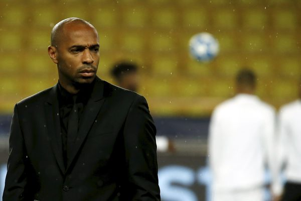 Thierry Henry lors du match contre Bruges,  perdu 0 à 4 au stade Louis II lors de la 4ème journée du groupe A de la Ligue des Champions.