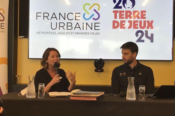 Johanna Rolland et Tony Estanguet à Nantes, le 9 septembre 2021
