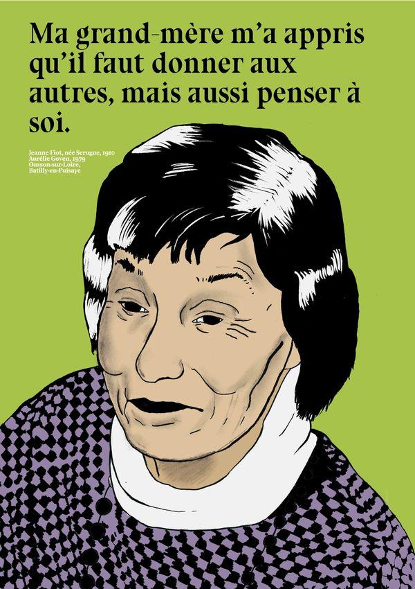Sur les affiches, des petites-filles rendent hommage à leurs grands-mères.