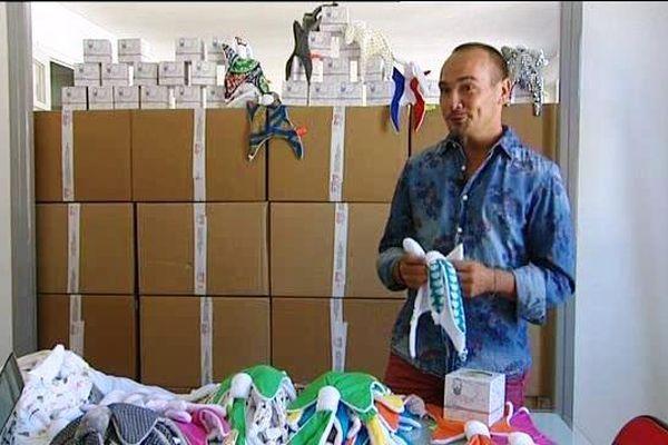 """Nicolas Courrège a créé le doudou """"Nin-Nin"""" pour ses enfants. Il est aujourd'hui à la tête d'une entreprise au Creusot."""
