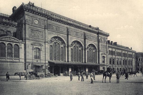 La gare de Strasbourg en 1905.