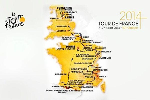 Parcours Tour de France 2014 (complet)