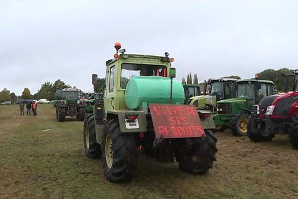 Mobilisation des agriculteurs de l'Aisne le 8 octobre 2019.
