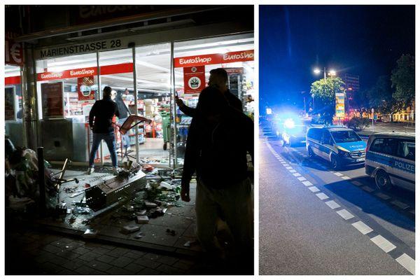 Destruction de magasins et renforts de policiers dans la nuit de samedi 20 à dimanche 21 juin 2020 à Stuttgart