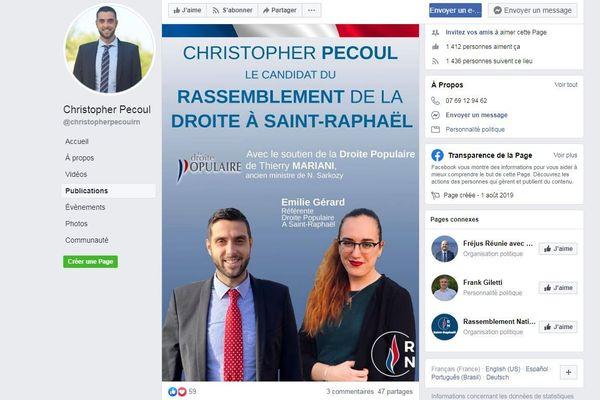 A Saint-Raphaël: Christopher Pecoul, candidat Rassemblement National à Saint-Raphaël reçoit le soutien de la droite populaire.