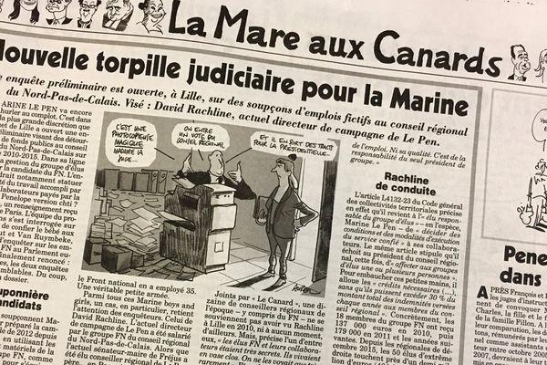 Extrait du Canard Enchaîné du 5 avril 2017