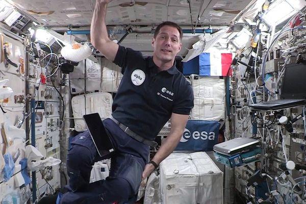L'astronaute français Thomas Pesquet le 3 septembre 2021, lors de sa deuxième mission dans la station spatiale internationale (ISS)