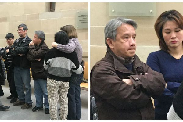 La famille Le Tan, reçue par le juge d'instruction ce lundi 3 février, au tribunal de Strasbourg
