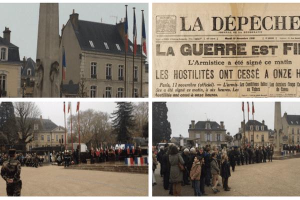 Émotion et souvenir lors de la commémoration de l'armistice du 11novembre au Mans (Sarthe).