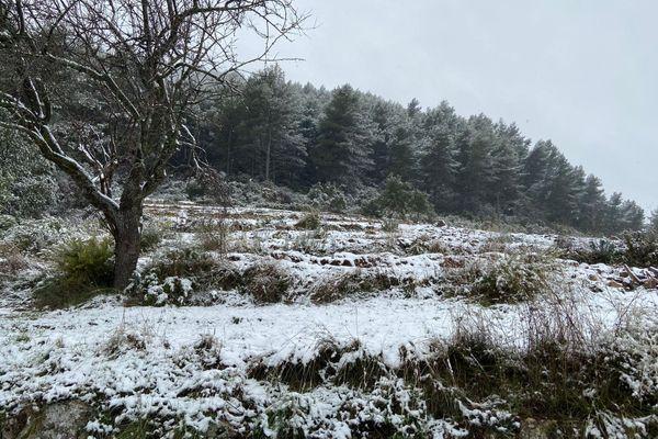 Dans les Bouches-du-Rhône, la neige est tombée toute la journée.