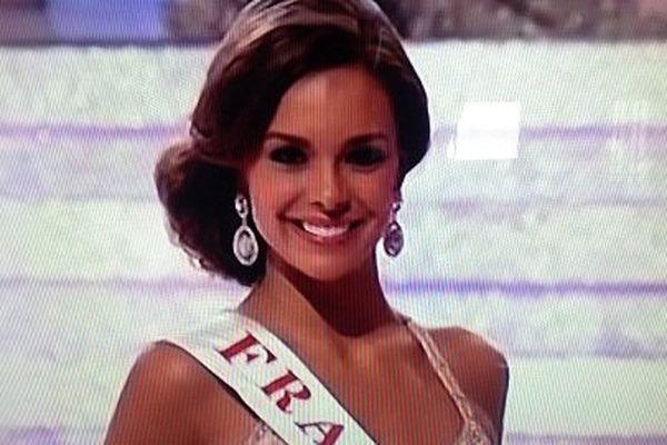 Marine Lorphelin lors de la finale de Miss Monde, cet après-midi