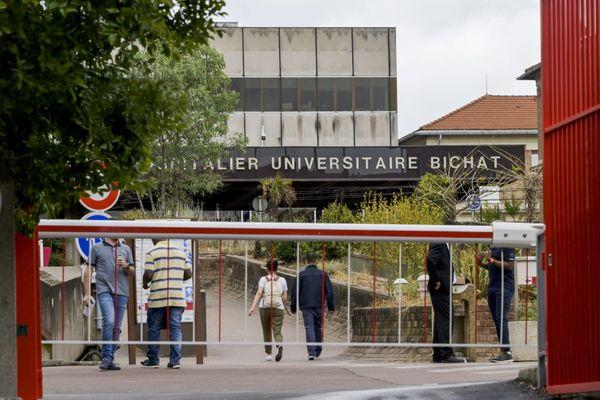 L'une des entrées de l'hôpital Bichat, au nord de Paris.