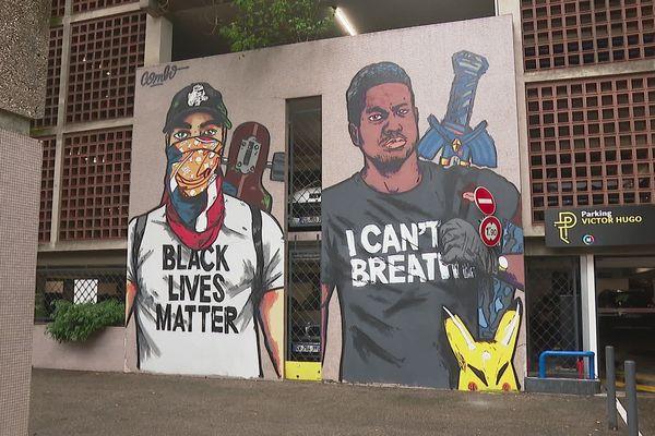 Une oeuvre faisant écho à la mort de George Floyd ouvre le Street art fest de Grenoble.