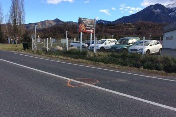 C' est ici, sur la RD 116 , à la sortie de PRADES , en direction de Perpignan que le drame s'est produit.