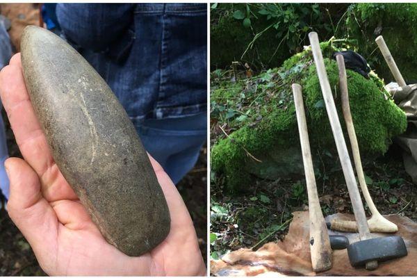 La dolérite, la pierre qui servait à fabriquer des haches polies pendant le Néolithique