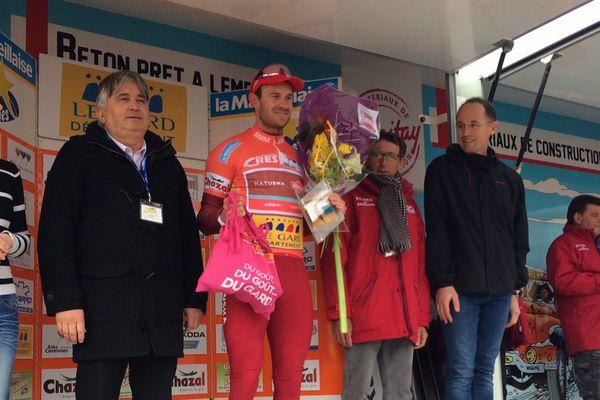 Rodilhan (Gard) - le Norvégien Alexander Kristoff (KAT) a remporté la 2e étape de l'Etoile de Bessèges - 2 février 2017.