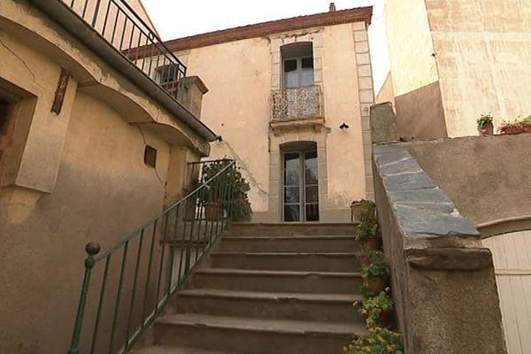 La villa Douzans à Banyuls-sur-Mer, dans les Pyrénées-Orientales, a été décorée par des œuvres de jeunesse du célèbre artiste peintre, sculpteur Aristide Maillol - mars 2017