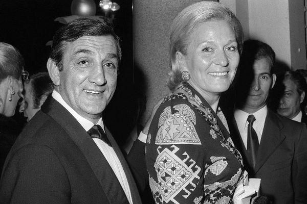 Odette et Lino Ventura lors du festival de Cannes en 1972