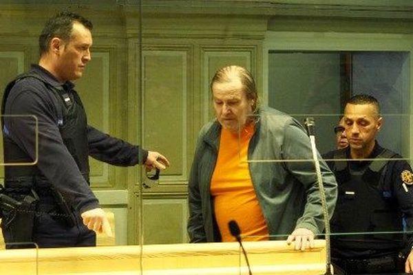 Jacques Rançon lors de son procès, le 5 mars 2018, pour le viol et le meurtre de deux jeunes femmes à Perpignan