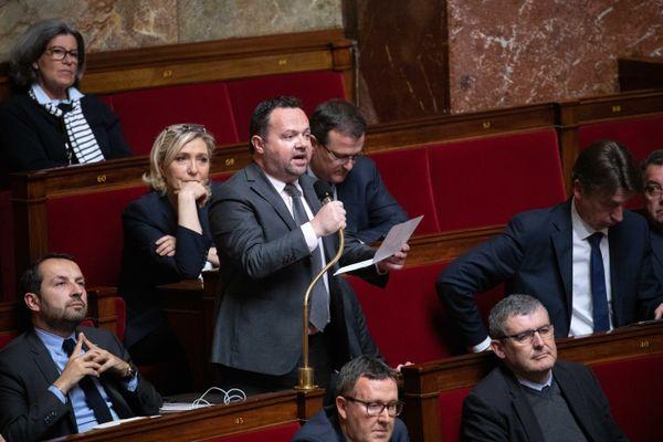 Bruno Bilde, député RN du Pas-de-Calais lors d'une séance des questions au gouvernement, le 2 avril 2019.