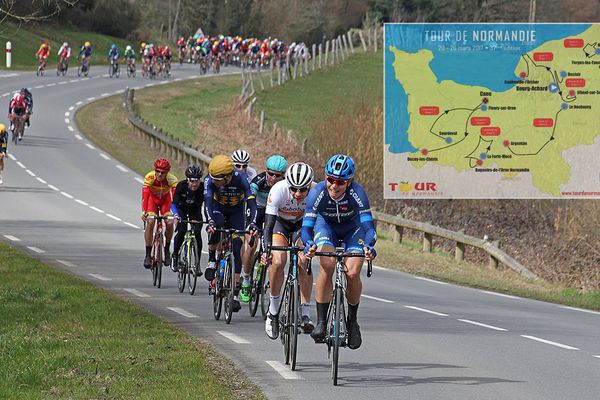 Le Tour de Normandie se déroule du 20 au 26 mars sur les routes de la région.