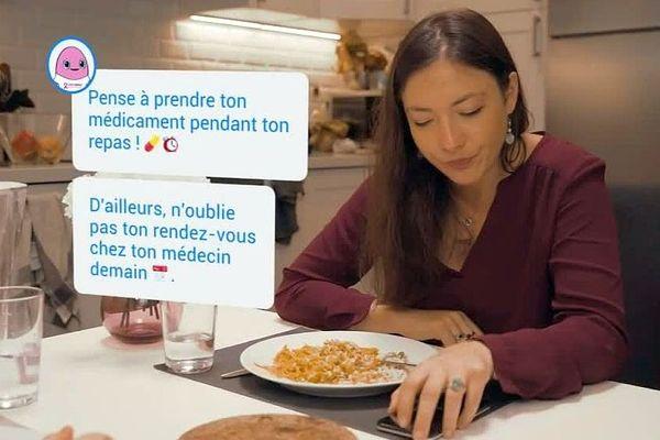 Montpellier : Vik, le robot-application de l'entreprise Wefight aide les femmes atteintes d'un cancer du sein - janvier 2019.