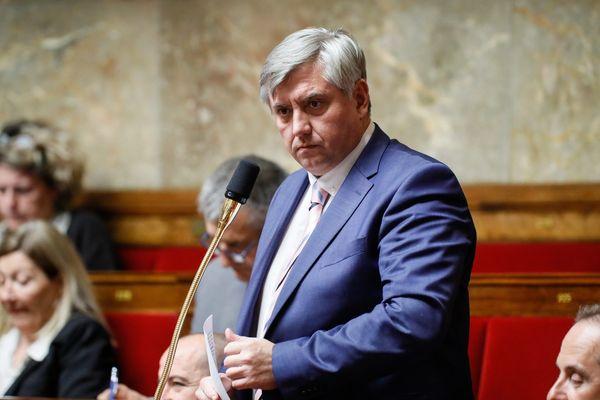 (Archives 19/03/2019) Pascal Brindeau, député UDI du Loir-et-Cher lors d'une séance de questions au gouvernement,t à L'Assemblée nationale.