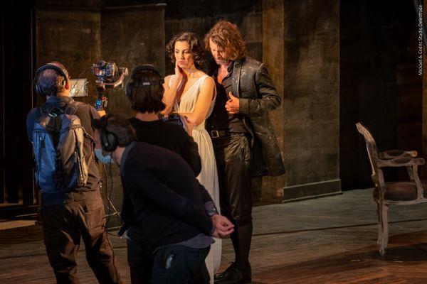 Le tournage de Don Giovanni [le film] à l'Opéra Grand Avignon en avril 2021