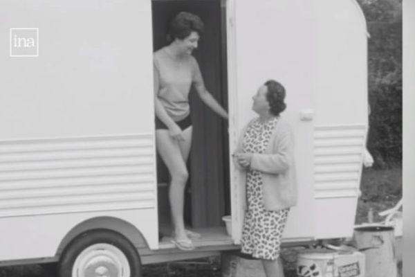 L'essor du camping dans les années 60