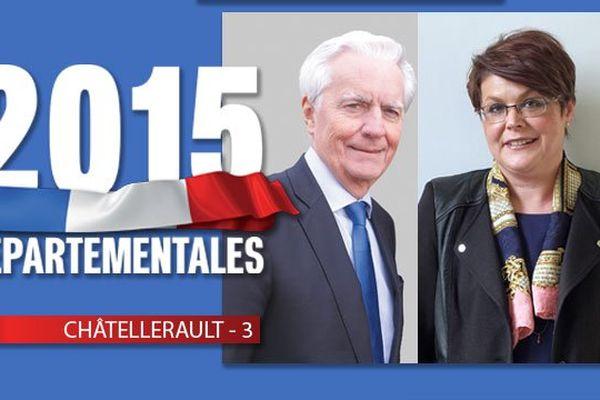 Le binôme UDI /DVD associant Jean-Pierre Abelin et Pascale Moreau dans le canton de Châtellerault 3.