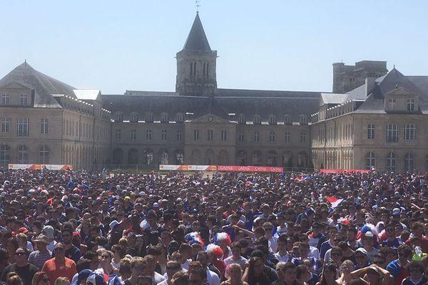 La Fan Zone de Caen, au Parc d'Ornano à l'occasion de l'Euro 2016. Cette année, les conditions pour se rassembler derrière les Bleus seront plus dures.