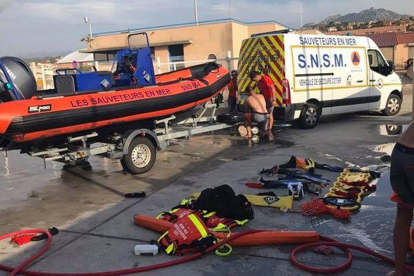 Les Sauveteurs en mer de la station SNSM de Propriano (Corse du Sud).