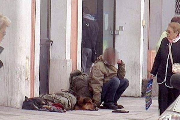 Sète (Hérault) - Des SDF dans les rues - archives