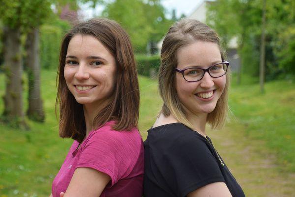 Justine Laville (à gauche) et Marine Lamache (à droite) : les Ama'Roses caennaises en lice pour le Raid Amazones