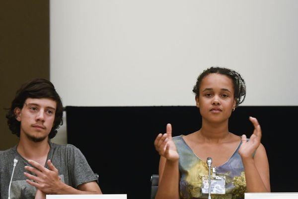 Alicia Arquetoux et Virgile Mouquet à l'Assemblée