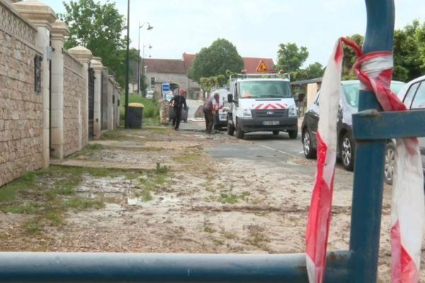 Les précipitations ont provoqué des dégâts sur certaines routes de Thieux.