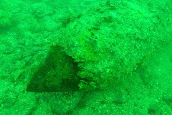 La bombe britannique retrouvée en face le Fort du Portzic (goulet de Brest)