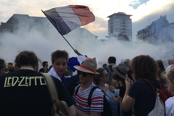 La place Kléber a accueilli les réjouissances post-victoire.