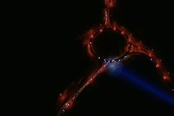L'hélicoptère cible les supermarchés au dessus du rond point de Palavas