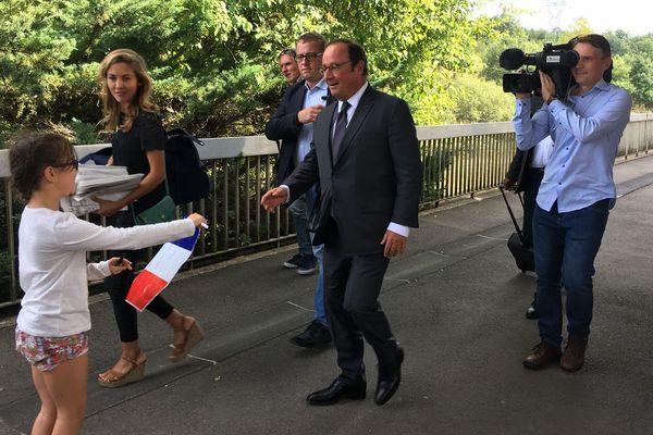 François Hollande est en déplacement au Creusot ce 5 septembre 2018.
