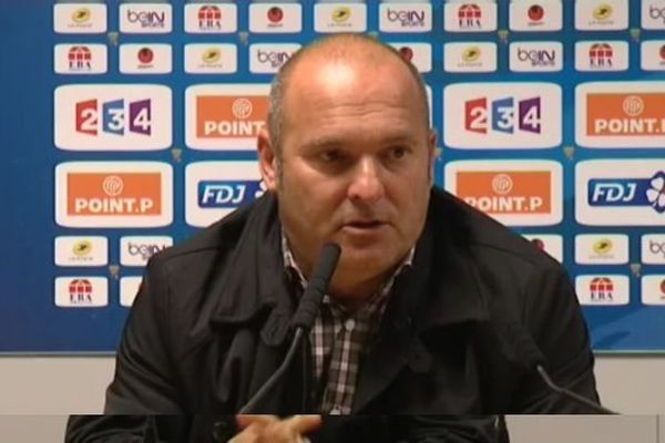 Pascal Dupraz, entraîneur de l'Evian-Thonon-Gaillard