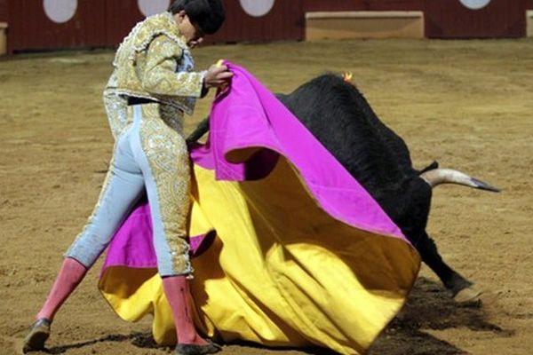 Le novillero colombien Juan de Castilla face au dernier cornu de Malabat
