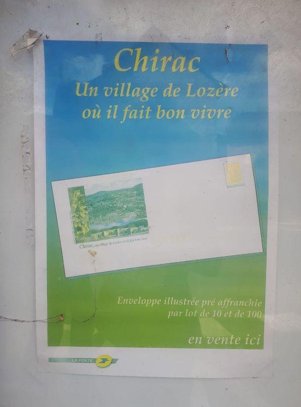 Affiche de promotion du village de Chirac en Lozère