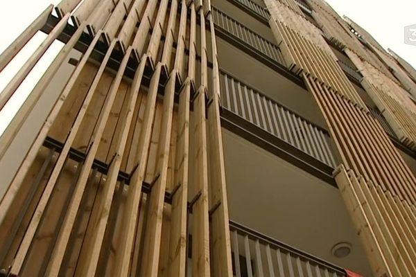 Un immeuble du nouveau quartier de la Courrouze à Rennes
