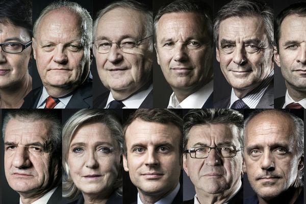 Les candidats à l'élection présidentielle 2017