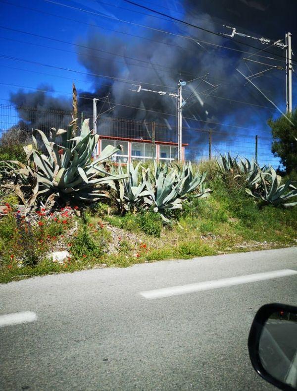 Une quarantaine de pompiers a été mobilisée pour cet incendie déclaré en fin de matinée.