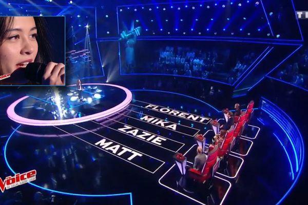 L'Euroise Lou Maï fait se retourner  l'ensemble du jury de The Voice