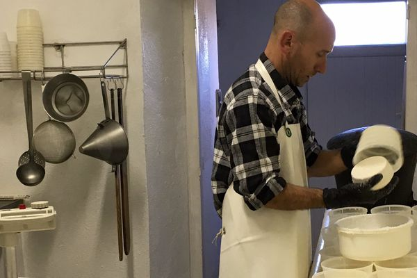 Paul-Marie Nicolosi, éleveur caprin et producteur de fromages près d'Aleria en Plaine orientale, le 5 mai 2016.